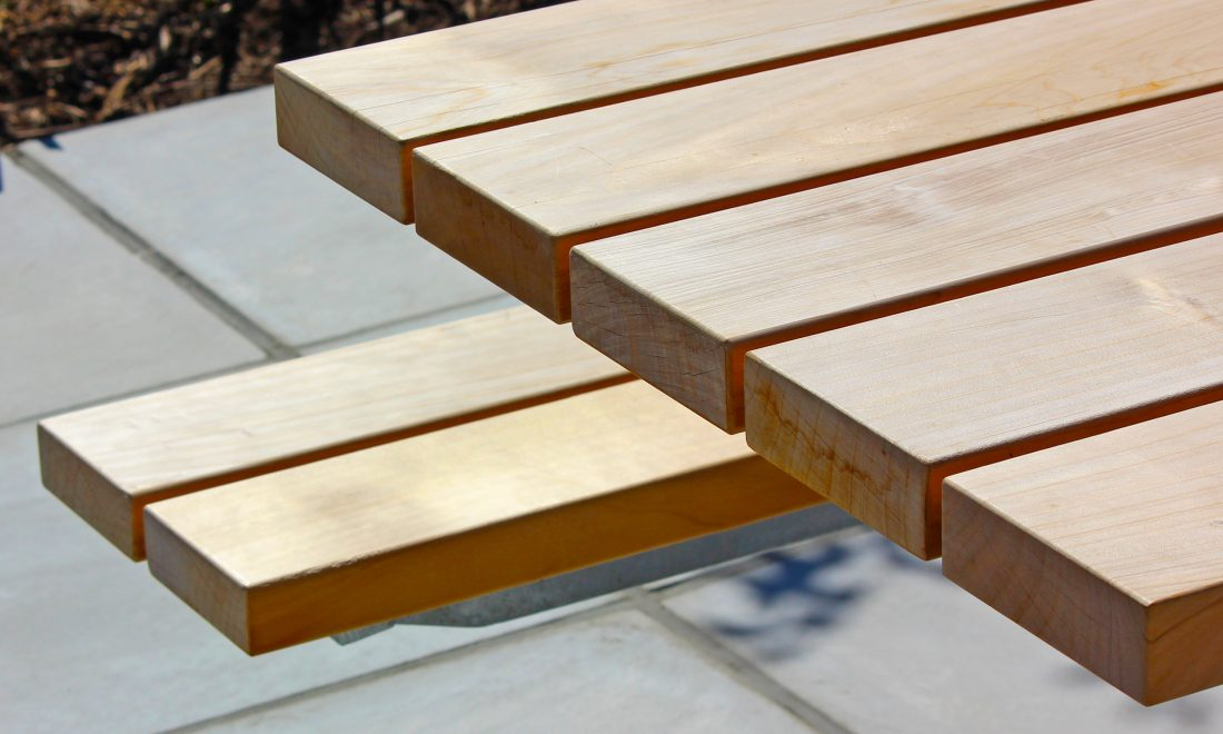 Plaza Picnic Setting close up detail